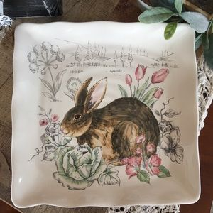 💕Beautiful Ceramic Bunny Plate